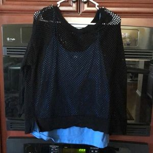 Apt 9 Netted Sweater with Old Navy Tank